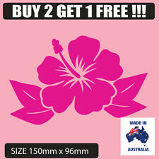 pink hibiscus hawaiian flower decal for car , computer , surfboard