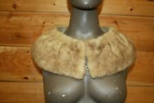 Mink Stole Real Fur Collar Hat Garment Tanned Wrap Cape Shrug Jt4