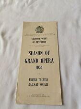 Grand Opera House Sydney Australia 1954 Program Railway Empire Theatre