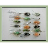 Trout Flies, Gold Heads, 18 Pack Fritz Sparkle Streamers, Size 10, Fishing flies