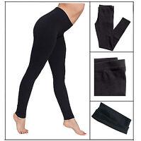New Full Length Black Cotton Leggings - All Sizes - Premium Quality