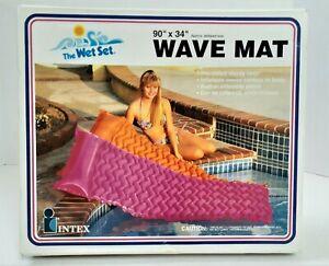 "Vintage Premium Wave Mat INTEX The Wet Set 90"" X 34"" Magenta Pink 1992 NOS  N20"