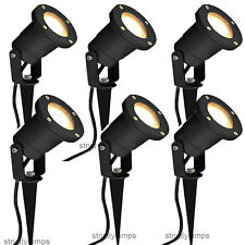 GU10 Outdoor Garden Spike Ground Mount Or Watt Light Ip65 Matt Black Pack Of 6