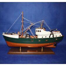 1 x 35CM Vintage Amsterdam Trawler Fishing Boat Wooden Models Display