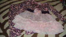 BOUTIQUE GIGGLE MOON 24M 24 MONTHS PURPLE FLORAL DRESS LEGGING SET
