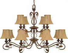Sonoma Bronze 12 Light Chandelier With Shades
