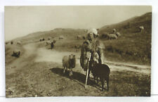 1910's 1920's RPPC Photo ROMANIA Postcard ~ SHEPHERD with SHEEP ~ Free Shipping