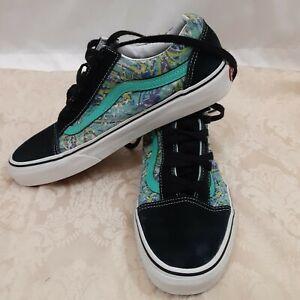 Vans Shoes Jade and Black Old Skool Skate Mens 9.0 Wom 10.5 i