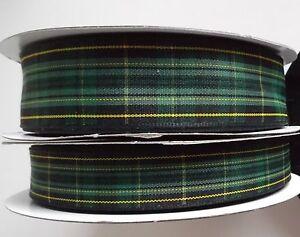 Celtic FC Football Club ALTERNATIVE tartan ribbon & End of Roll Sample Lengths