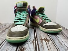 Nike Dunk High 6.0 Women's Multicolor Basketball Sneakers Size 9 #342257-531