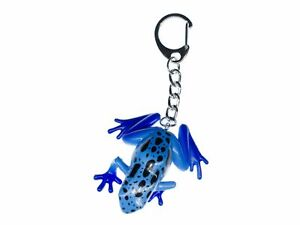 Frog Keychain Blue Baumsteiger Miniblings Charm Giftfrosch Blue