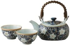 New! Hasami Ware Japanese Tea Pot&Cups Set Karakusa Kikyou from Japan