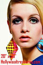 "Twiggy~Hair Salon~Spa~Barber~Photo~Mod~Retro~Color~Stylist~Poster~ 20"" x 30"""
