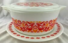Rare Vintage Pyrex Penn Dutch Friendship Casserole Dish with Lid and Underplate
