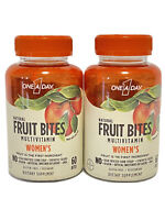 (2) One A Day Natural Fruit Bites Women's Multivitamin- 60 Bites Each- Exp 5/21