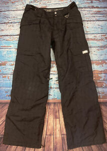 Womens OAKLEY Snow Pants Small Black Loose Fit
