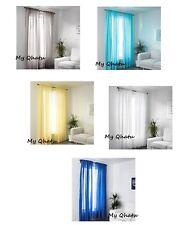 "Ikea VIVAN Pair of Curtains 2 panels Turquoise/Yellow/Gray/ Blue/ White 57""x 98"""