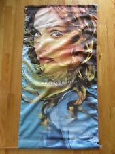 """1998 Madonna Ray of Light Promotional Concert Tour 46"""" x 24"""" Cloth Banner"""