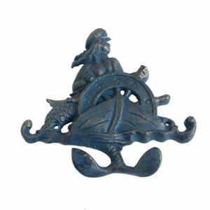 1pc Octopus Cast Iron Hanger 4 Coat Keys Hooks Rack Rustic Hanging Wall Mounted