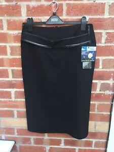 BNWT Ladies Apart Size 14 Black Pencil Skirt Summer Work Wedding Gorgeous L6