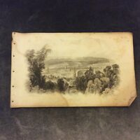 Antique Book Print - Bath from the Vicinity of Prior Park - c. 1850