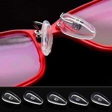 10PCS Silikon Brillen Nasen Pads Oval Druck Nasenpolster Nasenstege Brillenpad