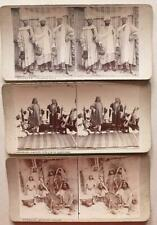 More details for #19  3 x stereoviews srinagar kashmir india kashmir people spinning cotton etc.