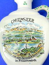 Chiemseer Chiemsee Lake Ceramic Bottle Germany Benedictine Women Handle Vintage