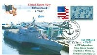 USS OMAHA LCS-12 Littorial Combat Ship Color Photo Cachet Naval First Day PM