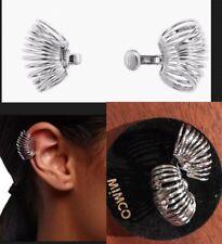 Mimco Interlude ❤️❤️❤️ Ear Cuff Earrings Silver Brand New + Dust Bag