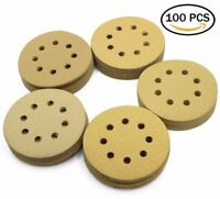 "5"" 60 80 120 150 220 Grit Sanding Disc Random Orbit Hook & Loop Sandpaper Sander"