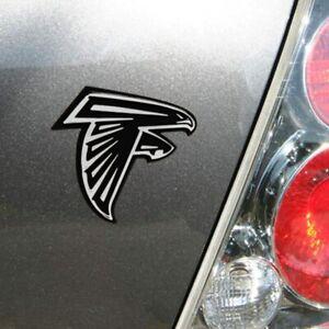 Atlanta Falcons 3D Emblem Raised Chrome Color Die Cut Auto NFL Decal Sticker