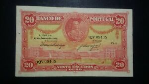 Portugal 20 Escudos 13.01.1925  P.135 Marquês de Pombal Great Condition