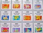 Complete Set First 12 USA Chinese Lunar New Year Stamps Issued 1993 to 2004 MNH