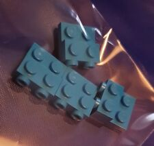 4 x GENUINE LEGO modified plate brick turquoise blue * part  6218014 *
