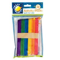 25 x Large Jumbo Flat Coloured Wooden Lollipop Ice Lolly Sticks Art Craft