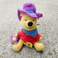 Winnie the Pooh Western Sheriff Disney Mattel Star Bean Soft Plush Toy
