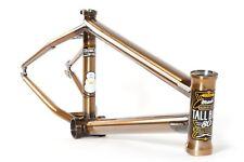 "S&M BIKE TALL BOY FRAME TRANS GOLD 21 CHARLIE CRUMLISH BMX BIKE FUBMX SALE 21"""
