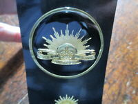 Royal Australian Army Rising Sun Medallion 48mm  Australian RAAF Crest Metal