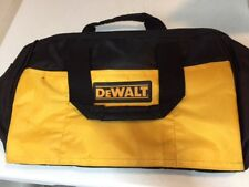 "Dewalt Heavy Duty Yellow and Black Ballistic Nylon Tool Bag 13"" w/ Sled Bottom!"
