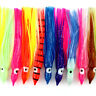 """20pcs 3.54"""" Saltwater Soft Fishing Lures Octopus Squid Skirt Lures Bait Hoochies"""