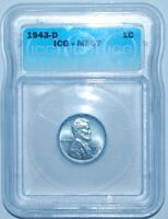 1943 D ICG MS67 Lincoln Wheat Cent