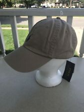 Polo Ralph Lauren Baseball Cap Hat Khaki Navy Pony Adjustable Size NWT