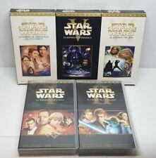 PELICULA VHS PACK STAR WARS EPISODIOS 1 y 2 + EPISODIOS 4, 5 y 6 EDICION ESPAÑA