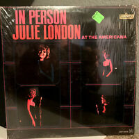 """JULIE LONDON - In Person At The Americana (Orig Shrink) 12"""" Vinyl Record LP - EX"""