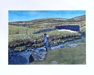 Original Yorkshire Dales Gouache Watercolour Watercolor Landscape Painting