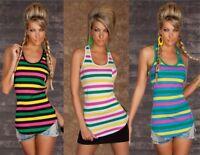Canotta Lunga T-Shirt Top Lungo Donna Miniabito Di.&A. DA373-A997 Tg L/XL  **
