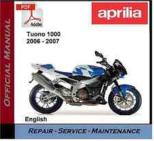 Aprilia Tuono 1000 2006 - 2007 Workshop Service Repair Manual