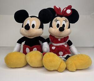 Disney Mickey And Minnie Mouse Couple Set Plush Stuffed Toy Disney Store Soft 16