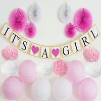 Baby Shower Decorations Girl Pink party supplies Girl Pink Baby shower kit